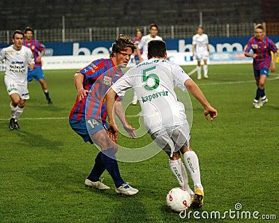 Szekesfehervar - kaposvar soccer game Editorial Stock Image