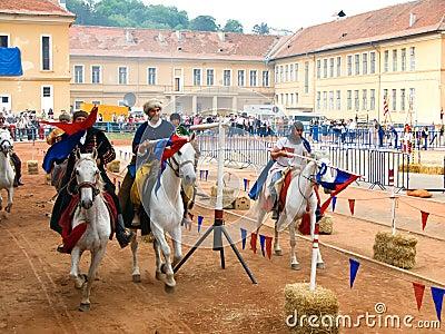 Szeklers knights on horses Editorial Image