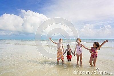 Szereg różnych plażowych