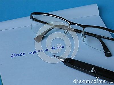 Szkło papieru długopis