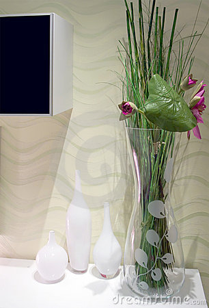 Szklane wazy