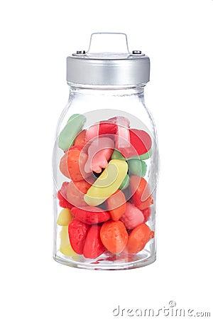 Szklany cukierku słój