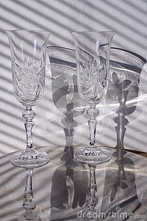 Szklany zmielony cień