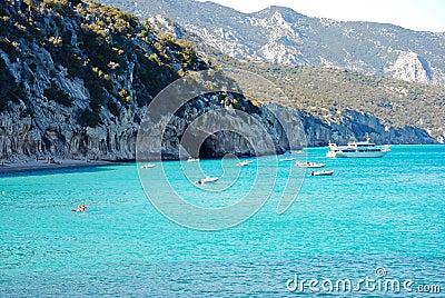 Szmaragdowe Cala wody Luna Sardinia