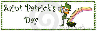 Sztandaru dzień Patrick s sain