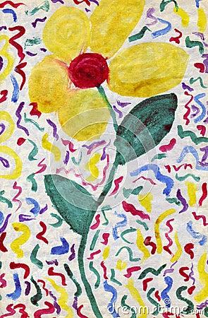 Sztuki dziecka kwiat