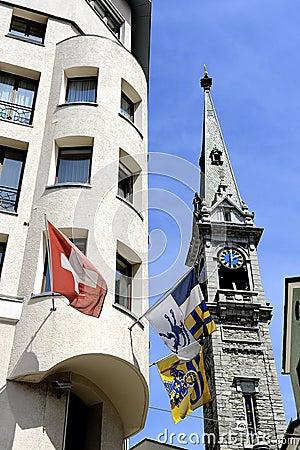Szwajcarskie flaga