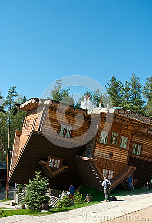 Szymbark House on Roof Editorial Stock Image