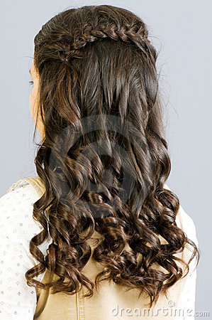 Tätt hår upp kvinna
