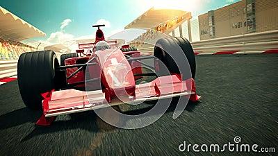 Tävlings- bil på loppspåret