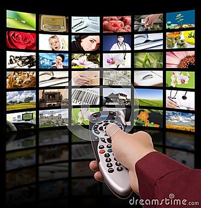 Télévision de Digitals, TV à télécommande.