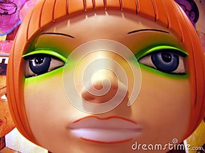 Tête en plastique de mannequin