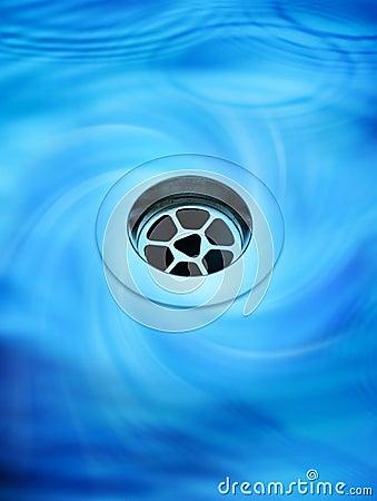 Töm tömning av vatten