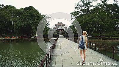 Túmulo de Vietname do imperador em Hue The Unesco Heritage video estoque