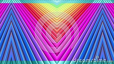 Tęcza barwi abstrakcjonistycznych lampasy, tło w 4k z jaskrawą błyszczącą farbą Gładzi bezszwową animację z gradientowym kolorem ilustracja wektor