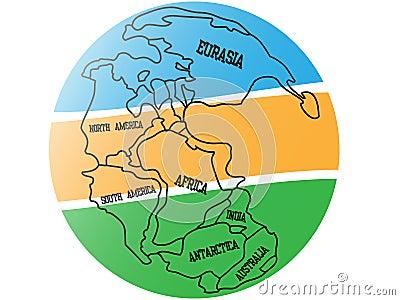 Tła mapy pangaea