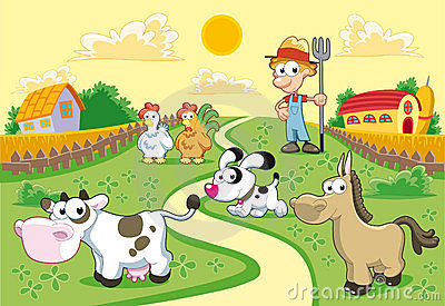 Tła rodziny gospodarstwo rolne
