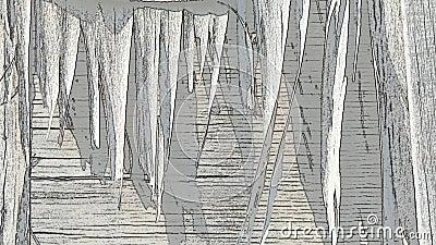 Tło animacja stare drewniane deski Nakreślenie skutki zbiory wideo