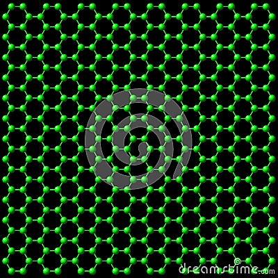 Tło atomowi związki