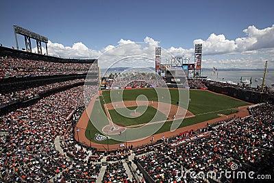 AT&T公园,旧金山巨人的家 编辑类照片