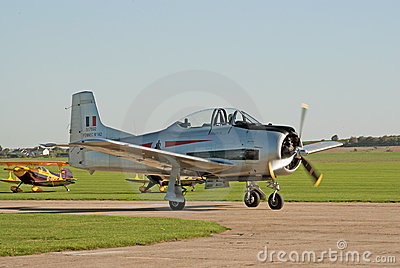 T-28 Fennec taxis for takeoff Editorial Image