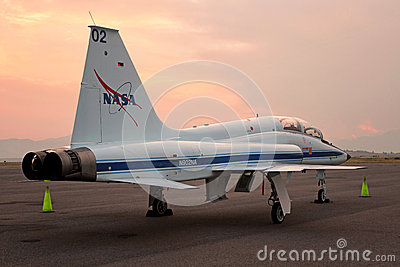 T-38 Talon NASA - Astronaut Jet Trainer Editorial Stock Photo