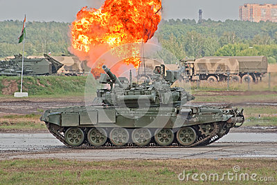 T-90A demonstrates the tank combat Editorial Photography