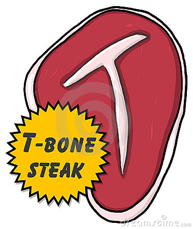 T-bone steak illustration