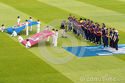 T20 Cricket Match Opening Ceremony Editorial Stock Image