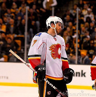 T.J. Brodie Calgary Flames Editorial Stock Photo