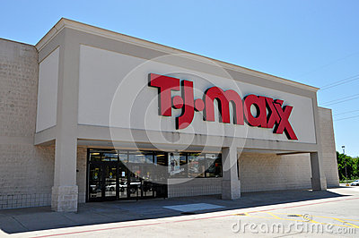 T.J. Maxx store in Longview Texas in 2012 Editorial Photography