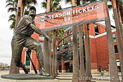AT&T Park Home of the Giants in San Francisco Editorial Stock Photo