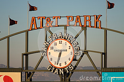 AT&T Park Logo Editorial Stock Photo