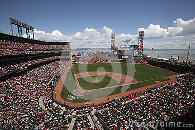 AT&T parkerar, returnerar av Sanen Francisco Giants Redaktionell Bild