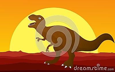 T-rex graphic.