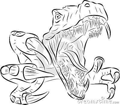 Jurassic Park 3 Kleurplaat T Rex Vektor Lizenzfreie Stockbilder Bild