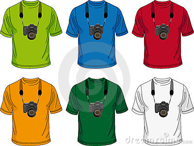 T-shirt with camera