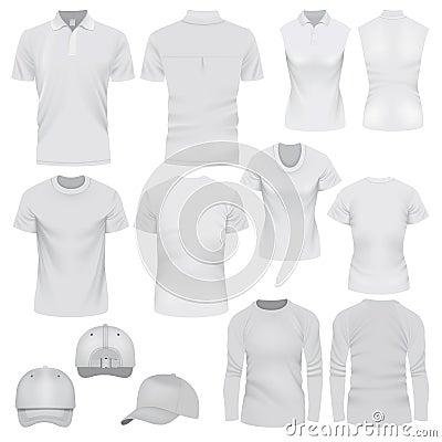 Free T-shirt Cap Mockup Set, Realistic Style Royalty Free Stock Image - 90286666
