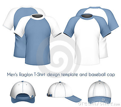 t-shirt design template & baseball c