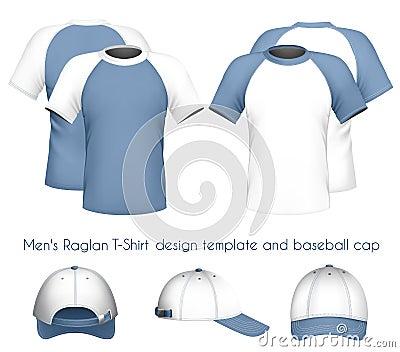 t-shirt design template & baseball c
