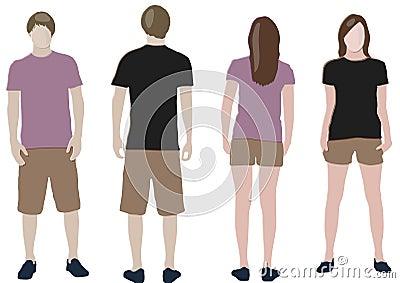 T-shirt design templates (front & back)