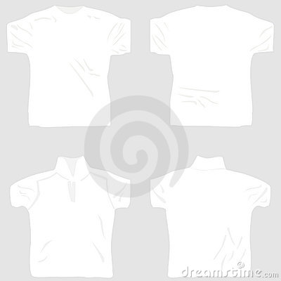 T shirt design white set including male female