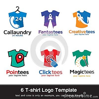 T Shirt Fashion Logo Template Design Vector Stock Vector