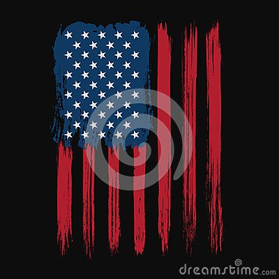 Free T-shirt Graphic Design With American Flag And Grunge Texture. New York Typography Shirt Design Stock Image - 111676001
