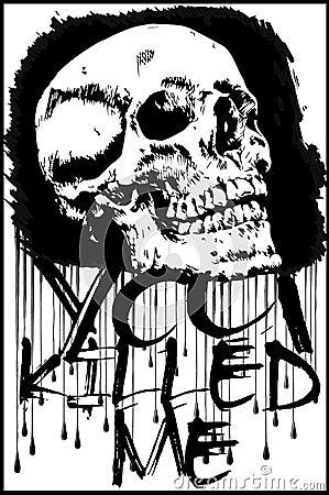 Free T-shirt Graphics/skull Print/skull Illustration/evil Skull/conce Royalty Free Stock Photo - 64794315