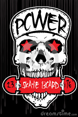 Free T-shirt Graphics/skull Print/skull Illustration/evil Skull/conce Royalty Free Stock Image - 64794396