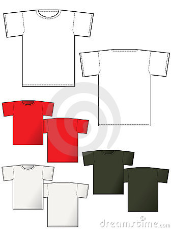 T-shirt layout back and front