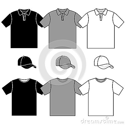 T-shirt men s and baseball cap