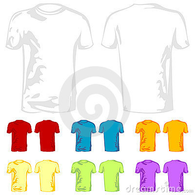 blank white t shirt template. T-Shirt templates with