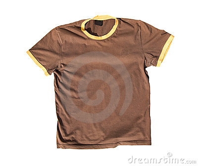 T-shirt on white background